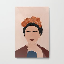 Frida Kahlo Art Metal Print