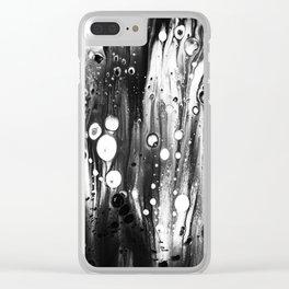 Blck White Lava Lamp Flow Clear iPhone Case