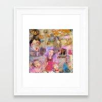 klimt Framed Art Prints featuring Klimt by sara aguiar