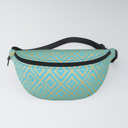 Moroccan Nights - Gold Teal Argyle Pattern - Mix & Match with Simplicity of Life Fanny Pack