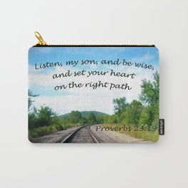 Proverbs 23:19 Carry-All Pouch