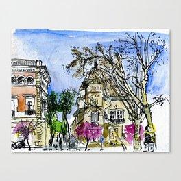 Plaça de la Virreina, Barcelona Canvas Print