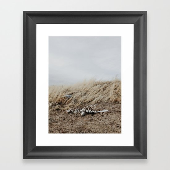 Winded Skeleton Framed Art Print