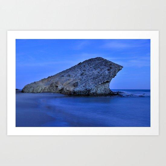 Blue sea. Monsul Art Print