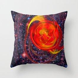 Red Star Burst Throw Pillow