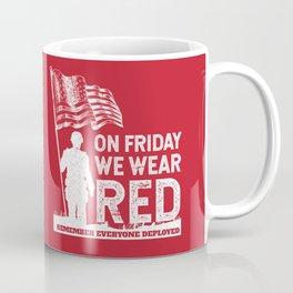 Wear Red Friday American Soldier Coffee Mug