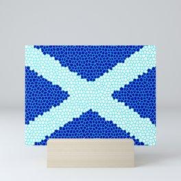 Mosaic Scottish Flag Mini Art Print