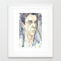 lou reed Framed Art Prints featuring Lou Reed by Germania Marquez