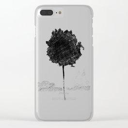 Croquis d'arbre Clear iPhone Case