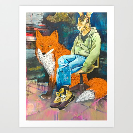 mister lamp and the red light Art Print