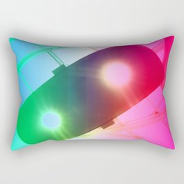 New York Psychedelic Vision Rectangular Pillow