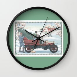 Seasons Greetings (from Steve and Bucky) Wall Clock