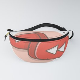 Play Button Collection Rounded Rectangle Music Video Multi Media Play Button White Isolated Fanny Pack