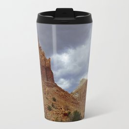 Buttes Rising from the Desert Travel Mug
