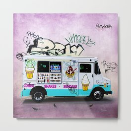 Ice Cream Truck Metal Print
