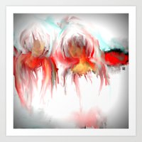 twins Art Prints featuring Twins by Jessielee