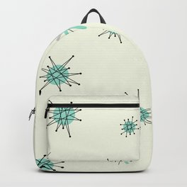 Mid Century Stars Retro Vintage Pattern Backpack