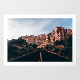Roads of Zion Art Print
