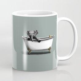 Elephant in Bath Coffee Mug