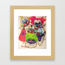 Killer Klown Gang Framed Art Print