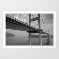 Long Dark Bridge Art Print