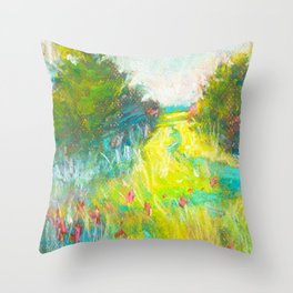 wildflowers (here today) Throw Pillow