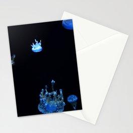Tiny Blue Jellyfish Stationery Cards