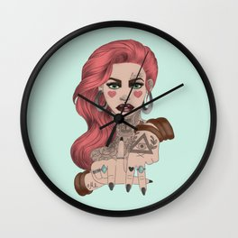LA LOVE Wall Clock