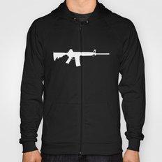 AR-15 (on black) Hoody