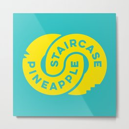 PineappleStaircase | Official Logocolor 2015 in Turquoise/Yellow Metal Print