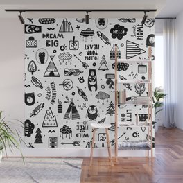 Wild And Free, Scandinavian Kids Wall Mural