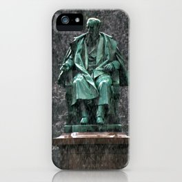 Monument in the rain | Denkmal im Regen iPhone Case