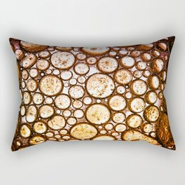 Oil on Water Bubble Abstract III Rectangular Pillow