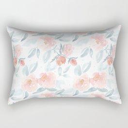 Soft Pink Watercolour Roses Rectangular Pillow