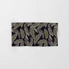 palm leaves black Hand & Bath Towel