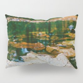 Autumn Leaf in Water (Color) Pillow Sham