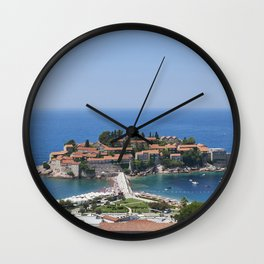 Montenegro Kotor Bay Coast Cities Building Houses Wall Clock