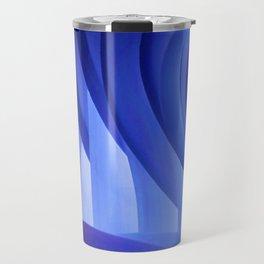 Walking Through Blue Travel Mug
