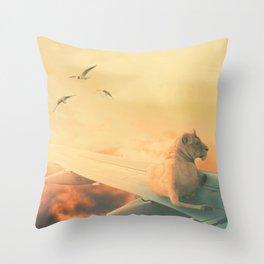 Lion Airlines Flight by GEN Z Throw Pillow