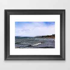 Storm on the Lake Framed Art Print