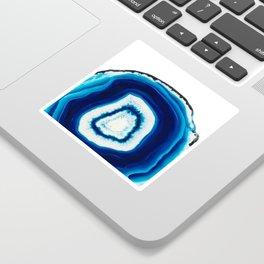 Blue Agate Geode Slice Sticker