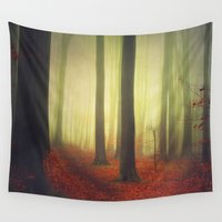 woodland Wall Tapestries featuring Magic Woodland by Dirk Wuestenhagen Imagery