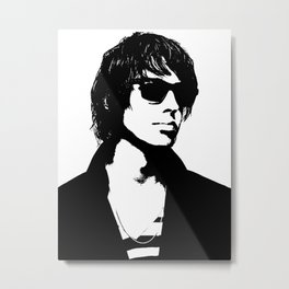 Julian Casablancas The Strokes Black And White Metal Print