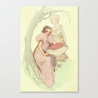 rapunzel Canvas Prints featuring Rapunzel by Jasmin Darnell