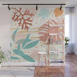 Mediterranean Garden - pastel earth tones Wall Mural