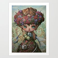 The Garden Queen Art Print