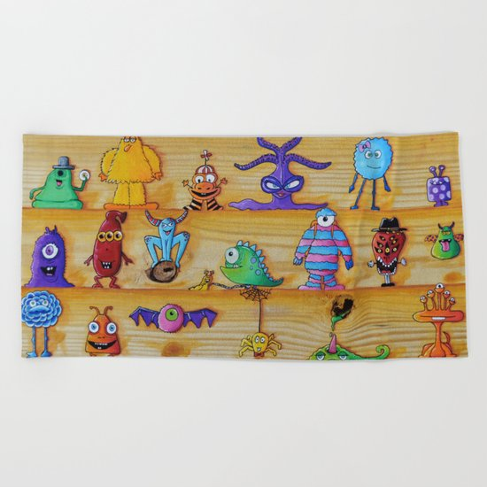 Creatch: First Impressions (Character Introduction) Beach Towel