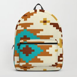 Native Aztec Light Brown Pattern Backpack