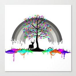 Colorless Raimbow Canvas Print