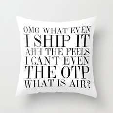 Fangirling is so Vogue Throw Pillow